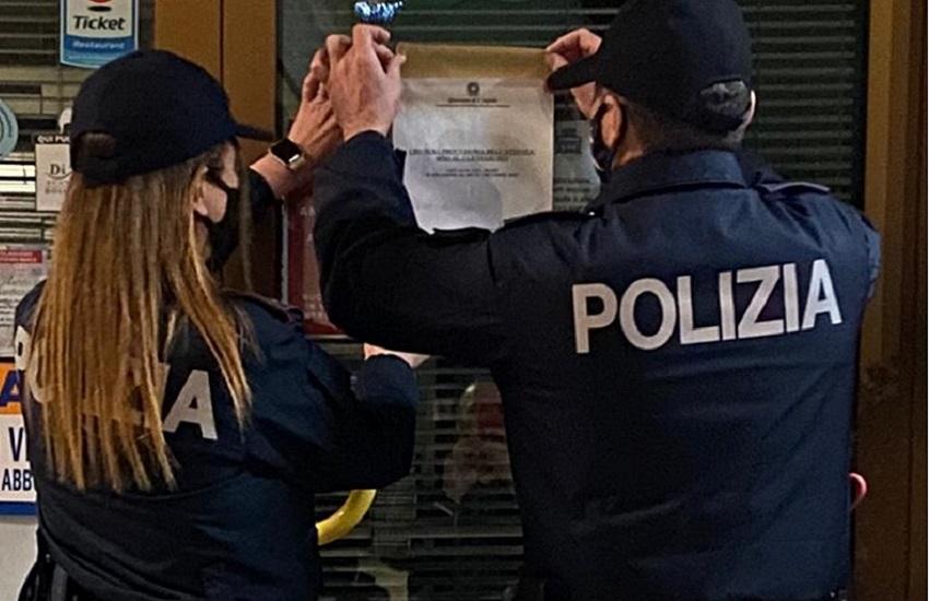 Sulmona: alla vista dei poliziotti scatta il fuggi fuggi generale degli avventori di un bar cittadino