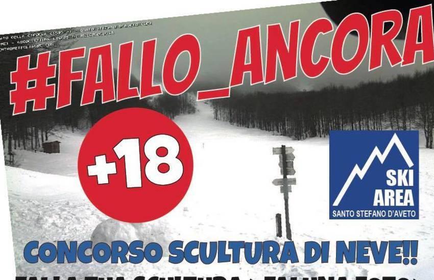 """""""Fallo ancora"""", il concorso di pupazzi di neve della ski area di Santo Stefano D'Aveto"""