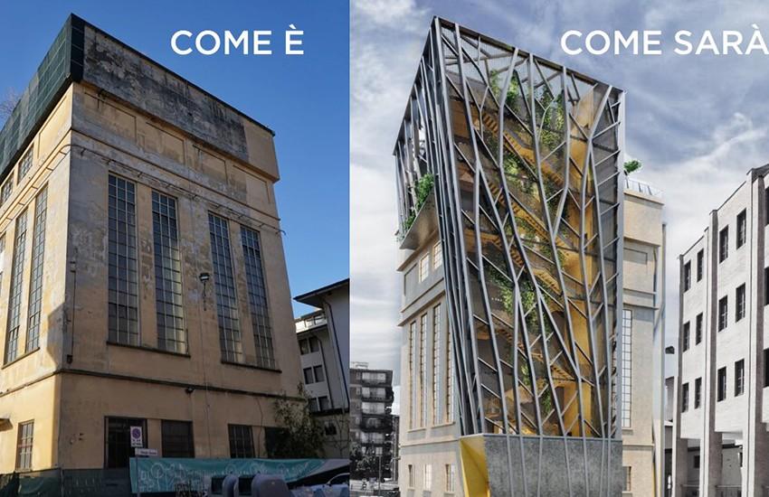 Ex centrale Fiat di Novoli, partono i lavori di recupero della torre di 30 metri
