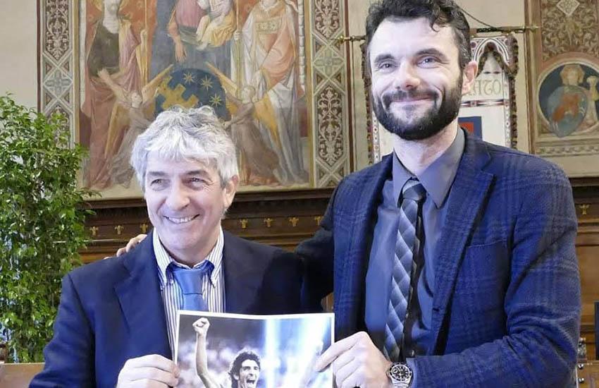 Anche Prato all'addio a Paolo Rossi, volto buono di un calcio dal sapore antico