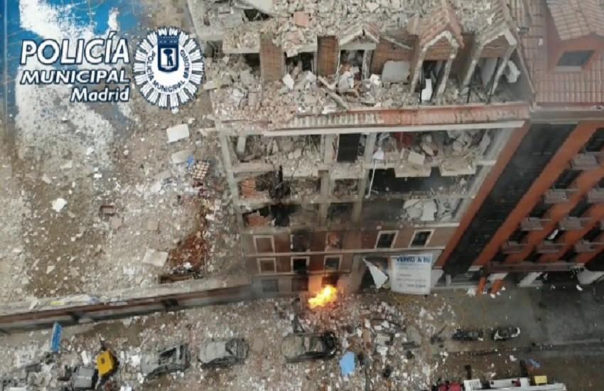 Madrid, fuga di gas distrugge un edificio in centro. Tre morti e 11 feriti, uno grave