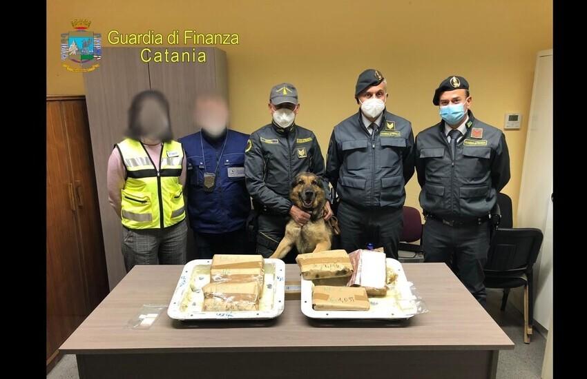 Catania, porto, sequestrati 7 kg di cocaina