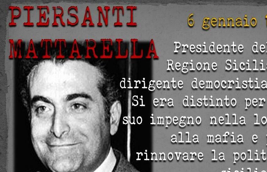 41esimo anniversario dell'omicidio mafioso di Piersanti Mattarella