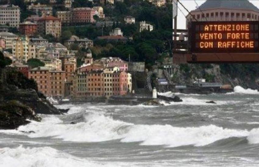 Liguria, avviso meteo per vento di burrasca forte: Genova scende sottozero