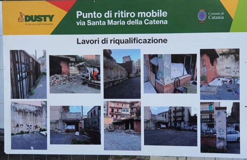 Catania, nasce altro punto eco mobile per differenziare i rifiuti