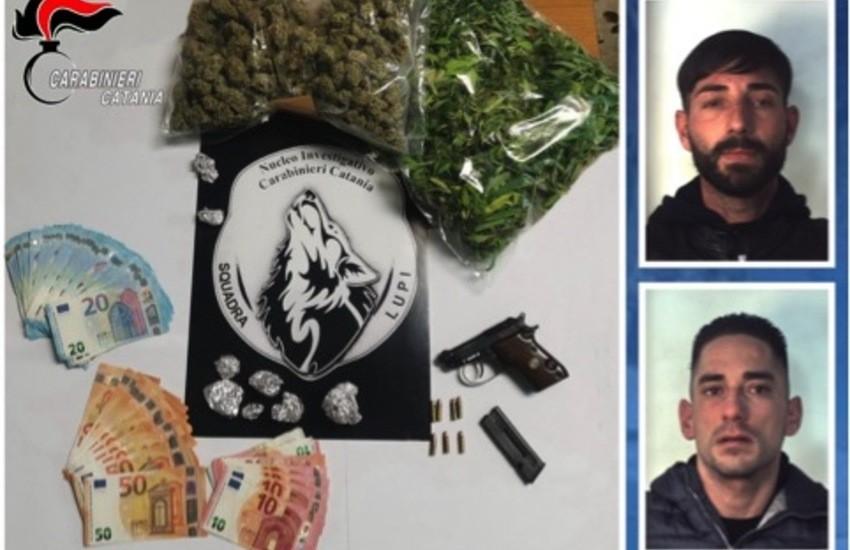 """Tremestieri Etneo, sequestro di armi e droga dei """"Lupi"""", due le persone arrestate"""