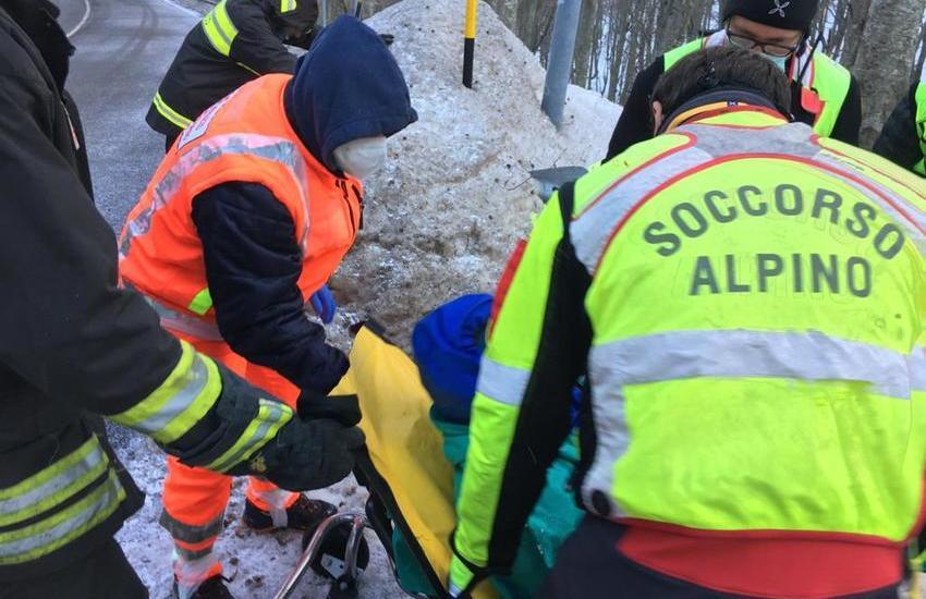 Brutta avventura a Passo Lanciano: uomo soccorso soccorso mentre faceva sci