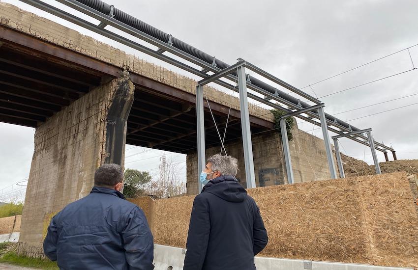 Ponte delle Terre rosse: ripartono i lavori, entro fine febbraio la demolizione