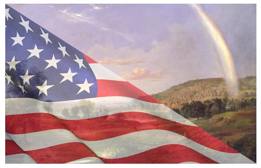 Sperando nel buon augurio dell'arcobaleno
