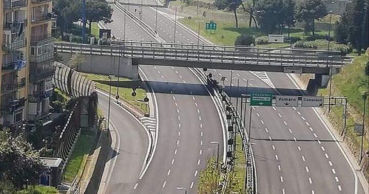 Tangenziale di Napoli, chiusa l'uscita di via Cilea al Vomero
