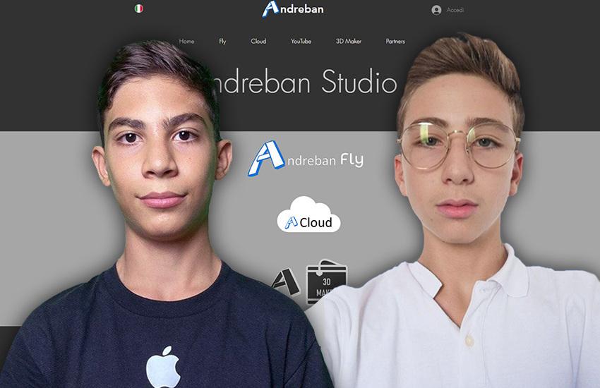 Imprenditori salentini a 14 anni. Andrea e Giorgio lanciano la startup Andreban