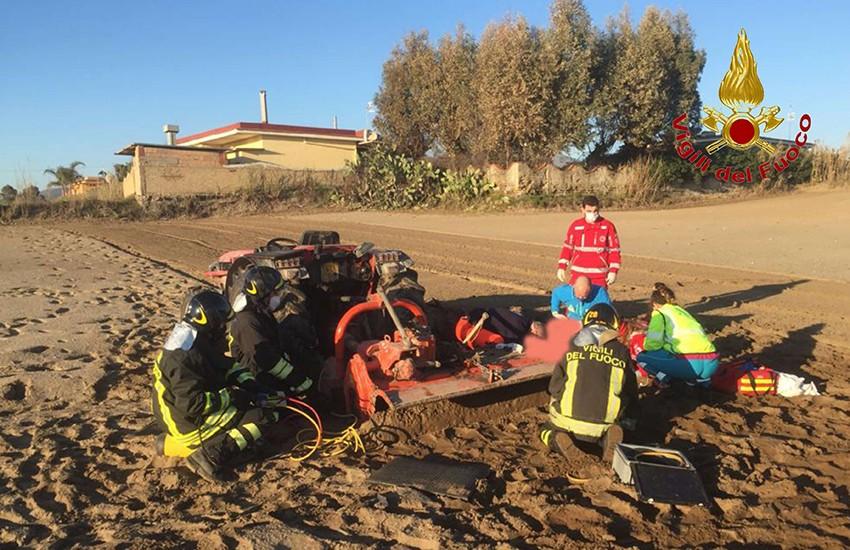 Carabiniere fuori servizio perde la vita in un campo agricolo