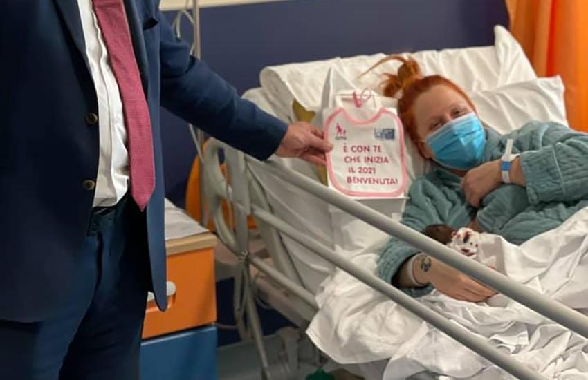 E' Viola la prima nata a Prato del 2021