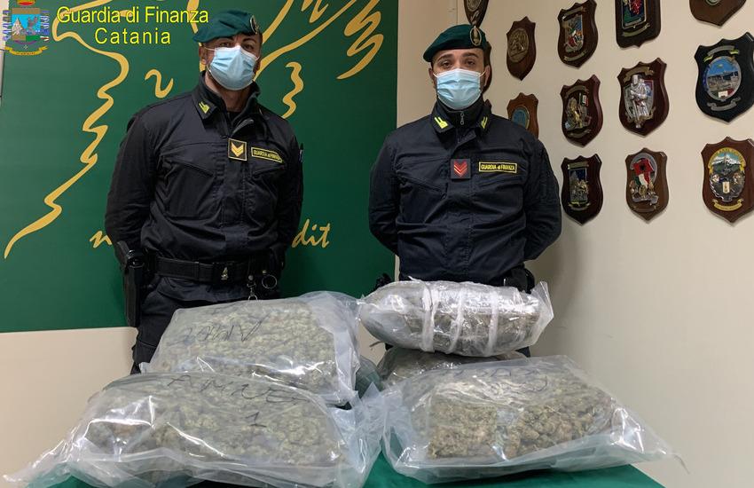 Catania, sequestrati 7kg di mrijuana ad alto potenziale, arrestato catanese di 43 anni