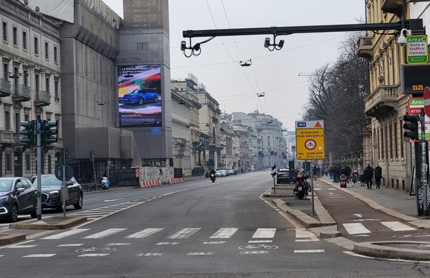 Milano: Area C riattiva da mercoledì 24 febbraio con orari rimodulati