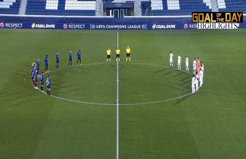 Champions League: In 10, l'Atalanta cede al Real Madrid nel finale