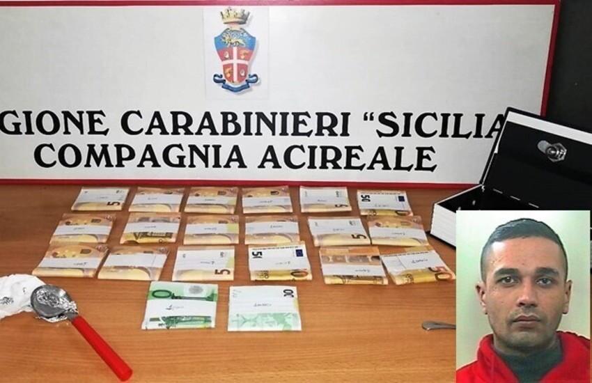 Viagrande, spacciatore nascondeva un tesoretto in casa, arrestato