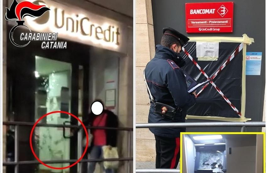 Biancavilla, tenta furto bancomat a colpi di martello, arrestata davanti all'Unicredit