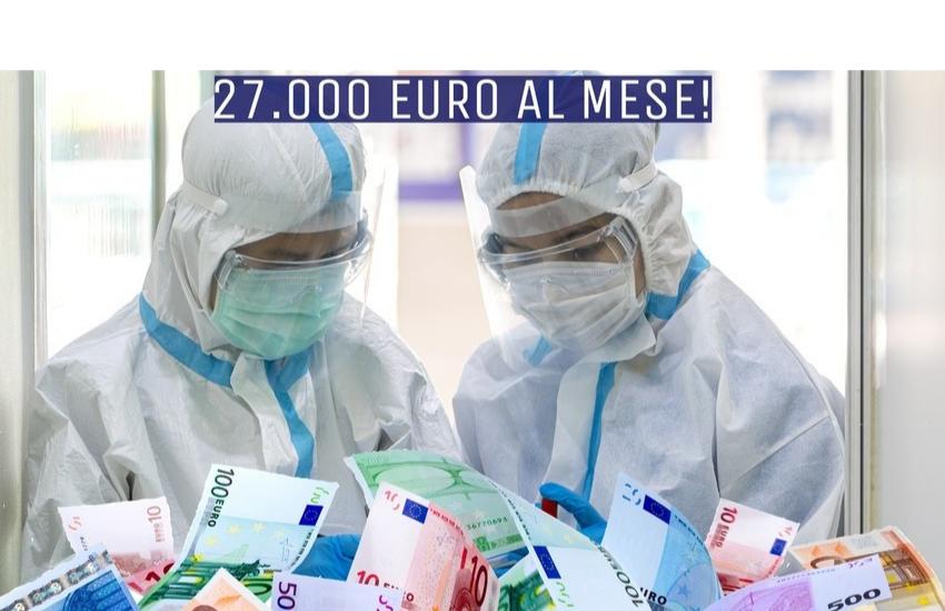 Covid 27 febbraio, in Sicilia curva stabile. Polemiche per i maxi compensi dei medici Covid: 27mila euro al mese