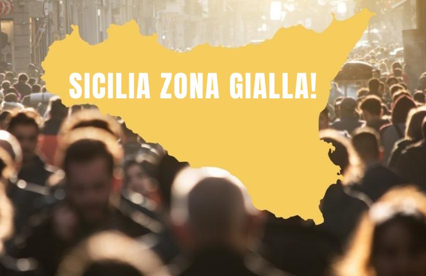 Covid: la Sicilia rimane in zona gialla