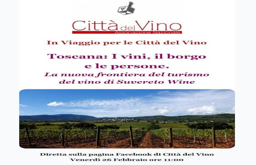 La nuova frontiera del turismo del vino di Suvereto Wine: in diretta su Facebook