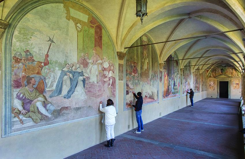 Tornano a splendere le lunette del Chiostro Grande di Santa Maria Novella. Il video