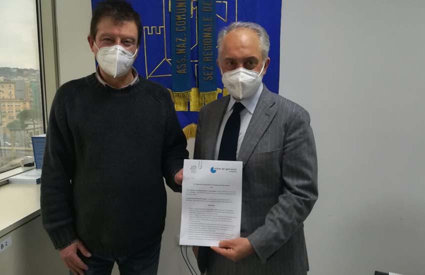 Uffici stampa, siglata convenzione tra Ordine dei giornalisti e Anci Campania