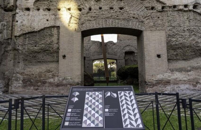 Roma, riapertura Terme Caracalla, percorso per persone con disabilità visive