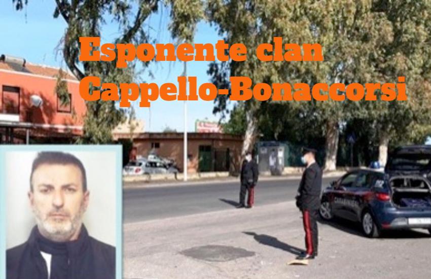 Catania, ai domiciliari per associazione mafiosa, trovato in strada con alcuni pregiudicati