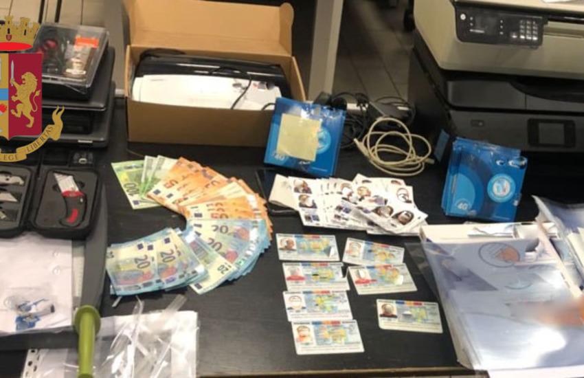 Milano, laboratorio clandestino di documenti falsi per il reddito di cittadinanza, arrestati tre romeni