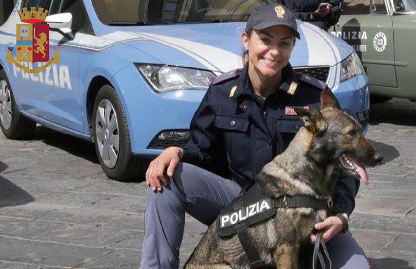 Scoperti 5 chili di hashish in auto grazie al  fiuto di Eviva anche fuori servizio. Arrestato l'autista 35enne dopo la fuga a piedi