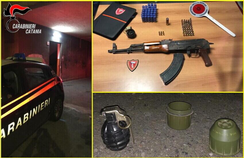 Monte Pò, sequestrate armi da guerra – anche una bomba – a disposizione dei clan