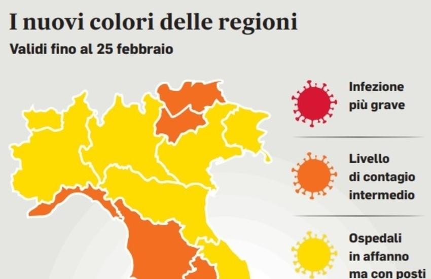 Coronavirus, la Liguria fa dietrofront: arancione da domenica