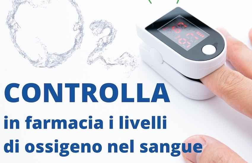 """Campagna """"OssigeniAmo"""": controllo gratuito dell'ossigenazione del sangue"""