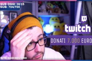 """Twitch, uno streamer italiano riceve 7.000 euro di donazione:"""" sarà stato un errore, voglio restituirli""""."""