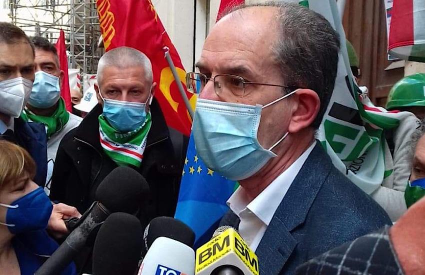 Il Segretario Nazionale della Fim Cisl Roberto Benaglia a Piombino