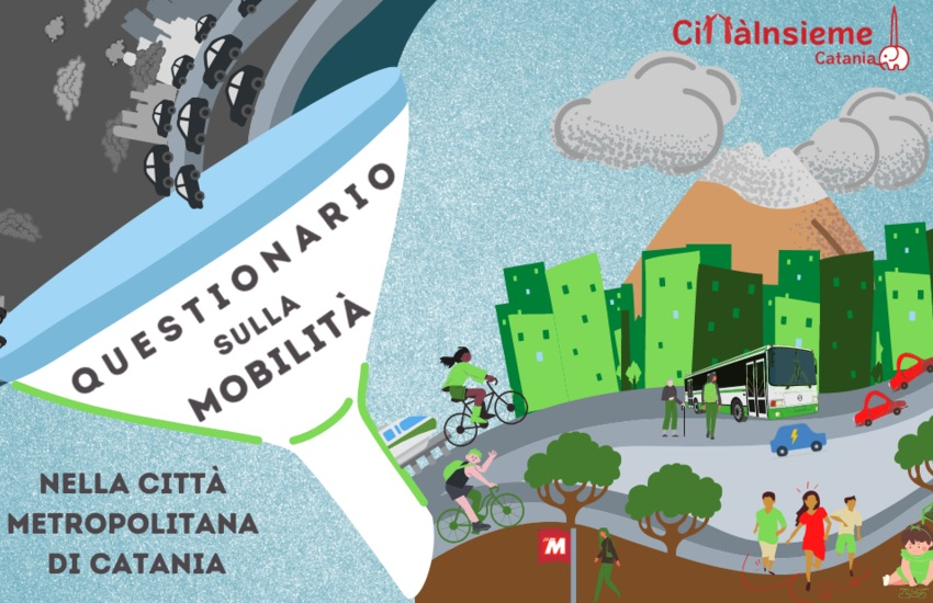 Catania, Cittàinsieme lancia il primo questionario sulla mobilità cittadina. Ecco il link