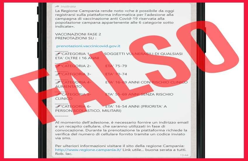 """""""Attenzione alle fake news sulla campagna vaccinale""""- l'allarme di De Luca"""