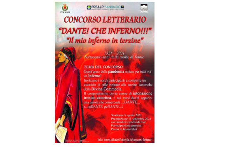 'Dante! Che Inferno': Este promuove un concorso letterario nazionale per celebrare il Sommo Poeta