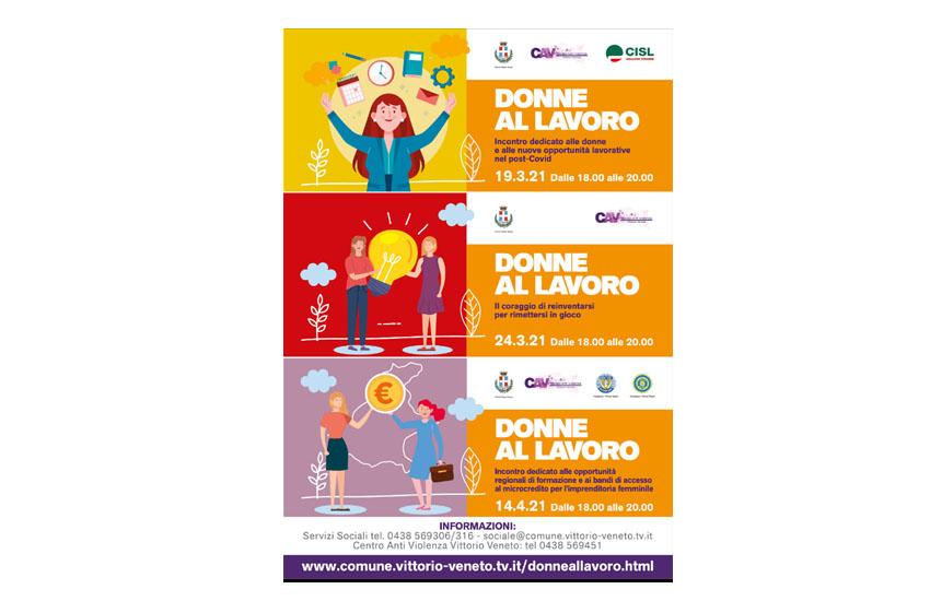 Vittorio Veneto, tre incontri dedicati alle donne e alle nuove opportunità lavorative nel post-Covid