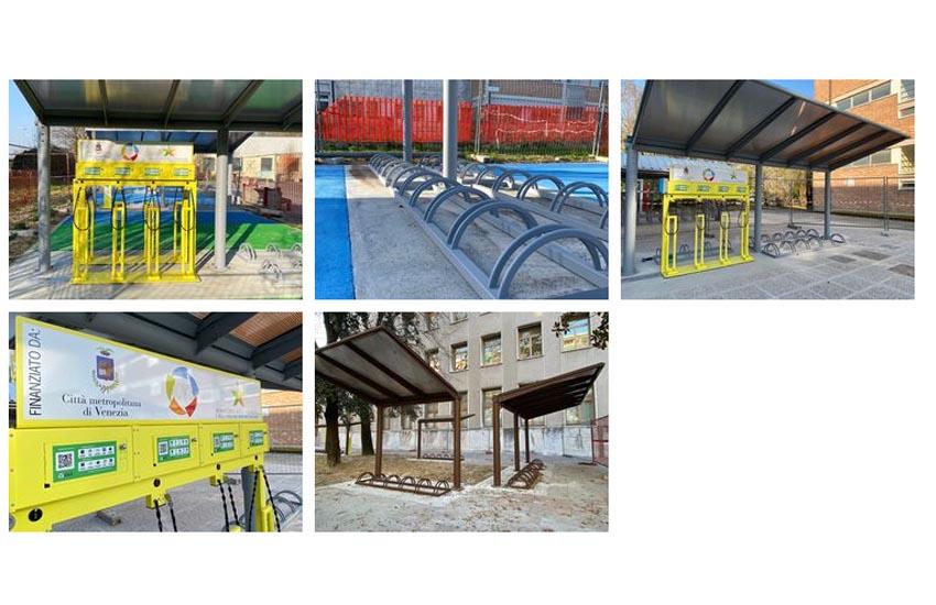 Mestre e Chioggia, in 4 istituti superiori le ciclo stazioni per biciclette elettriche