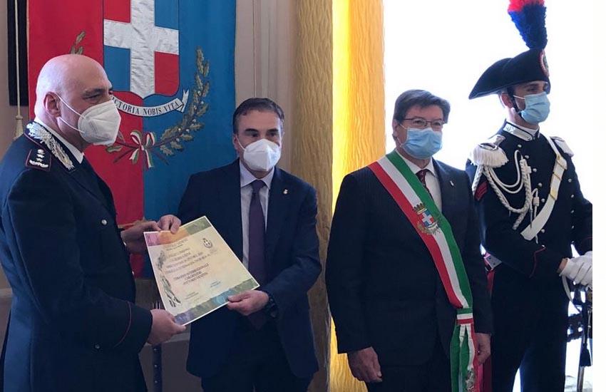 Vittorio Veneto, Comando Interregionale Carabinieri «Vittorio Veneto» di Padova riceve la Cittadinanza Onoraria della città