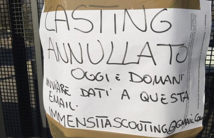 Annullato il casting, a Latina, del nuovo film di Crialese: troppa la gente accorsa