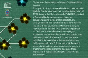 """Giornata della poesia: domenica 21 marzo le videoletture online di """"Catania poetica"""""""