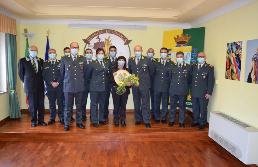 Saluto di commiato del Prefetto Cosima Di Stani alla Guardia di Finanza di Caltanissetta