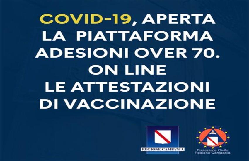 La Regione Campania annuncia l'apertura della piattaforma telematica per le vaccinazioni degli over 70: i link a cui accedere