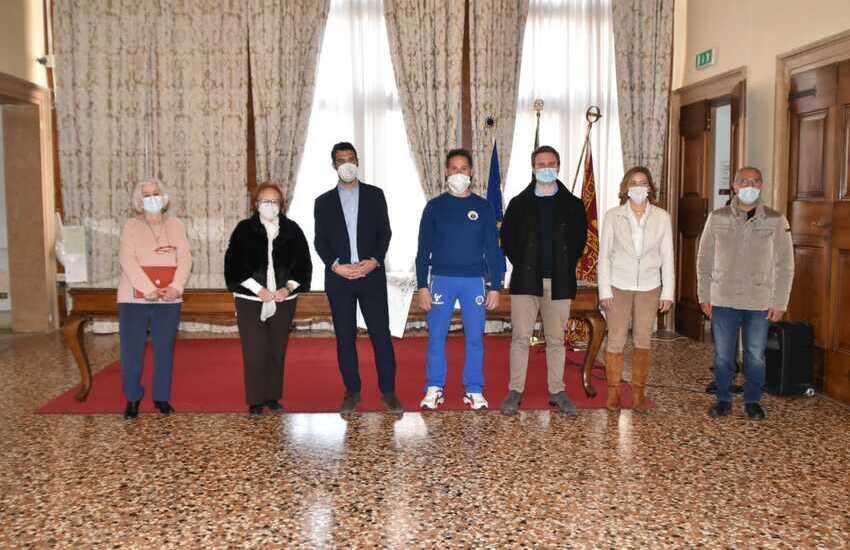 A Ca' Farsetti delegazione della Spes Mestre