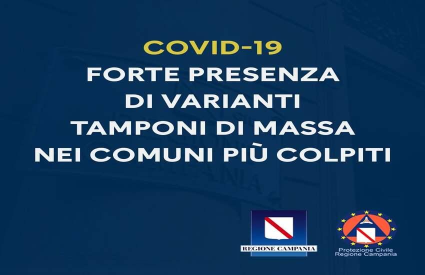 Impennata di contagi da Covid-19 della variante inglese a Torre Annunziata, Pompei e Castellammare: la Regione dispone tamponi di massa