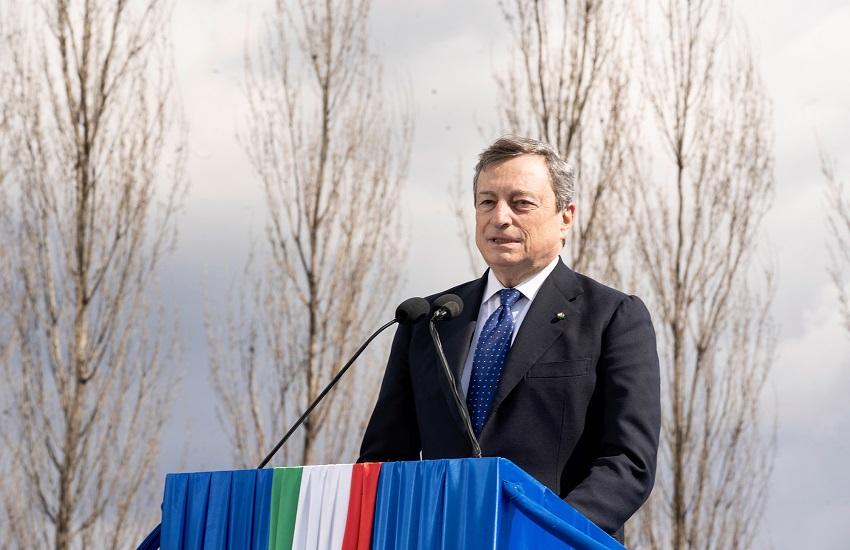 """Draghi a Bergamo: """"non accadrà più che le persone fragili non vengano adeguatamente assistite e protette"""""""
