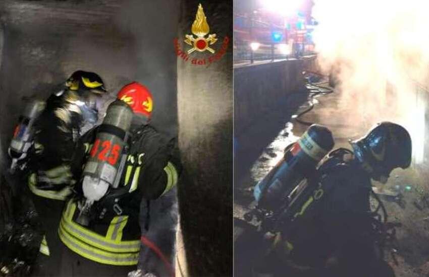 La Spezia, incendio in uno scantinato: quattro in ospedale